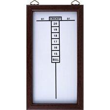 TGT Dry Erase Dart Board Cricket Scoreboard