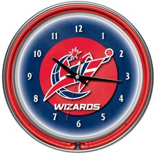 "14.5"" NBA Double Ring Neon Wall Clock"