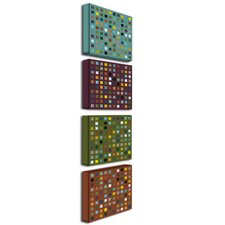 Skyscraper Abstract II by Michelle Calkins Canvas Art (Set of 4)