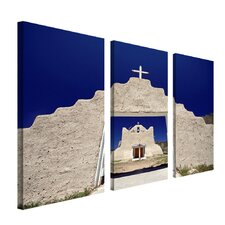 <strong>Trademark Global</strong> Mountain Scenery by Cat Eyes Canvas Art (Set of 3)