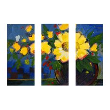 <strong>Trademark Global</strong> Fiesta by Sheila Golden Canvas Art (Set of 3)