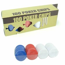 100 Radial Chips Set