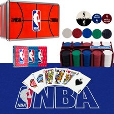 NBA 200 Chip Poker Set with Collector's Tin (Set of 2)
