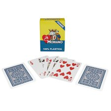 Modiano Single Deck 100% Plastic Poker Size Regular Index