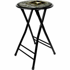 "<strong>Trademark Global</strong> U.S Army 24"" Digital Camo Folding Bar Stool with Cushion"
