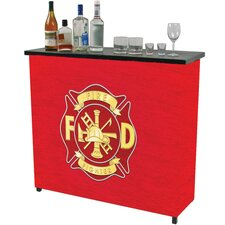 Fire Fighter Metal 2 Shelf Portable Bar Carrying Case
