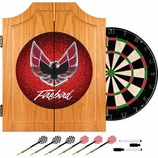 <strong>Trademark Global</strong> Pontiac Firebird Wood Dart Cabinet Set