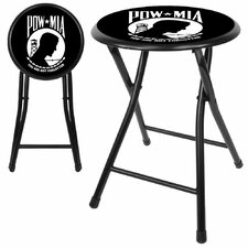 "Pow 18"" Folding Bar Stool with Cushion"