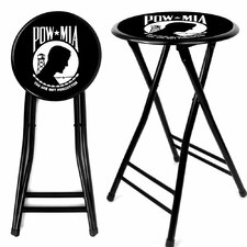 "Pow 24"" Folding Bar Stool with Cushion"
