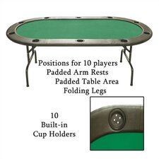 Poker & Casino Full Size Texas Hold'em Poker Table (Set of 10)
