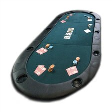 <strong>Trademark Global</strong> Texas Hold'em Poker Folding Tabletop With Cupholders