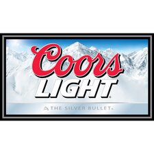<strong>Trademark Global</strong> Coors Light Wood Framed Mirror