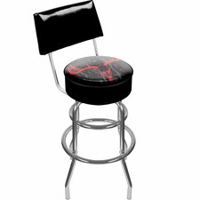 Hunt Skull Padded Swivel Barstool with Back