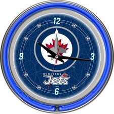 "NHL 14.5"" Winnipeg Jets Neon Wall Clock"
