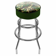 Hunting Camo Padded Swivel Barstool