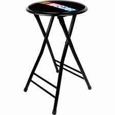 "NASCAR 24"" Folding Bar Stool with Cushion"