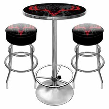 Hunt Skull Game Room 3 Piece Pub Table Set