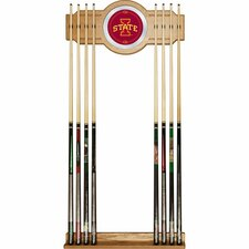 NCAA Wood and Mirror Wall Cue Rack
