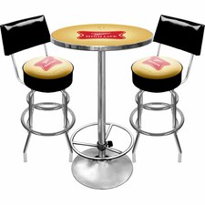 <strong>Trademark Global</strong> Ultimate Miller High Life 3 Piece Pub Table Set