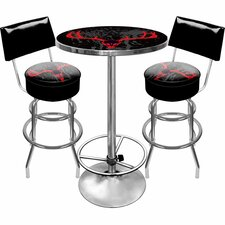 <strong>Trademark Global</strong> Hunt Skull Game Room 3 Piece Pub Table Set