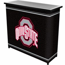 <strong>Trademark Global</strong> NCAA 2 Shelf Portable Bar with Case