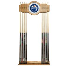 NHL 2 Piece Wood and Mirror Wall Cue Rack