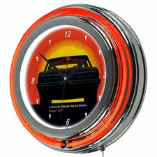 "Pontiac 14.5"" GTO Time and Distance Neon Wall Clock"