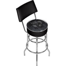 "<strong>Trademark Global</strong> Fender 31"" American Swivel Bar Stool with Cushion"