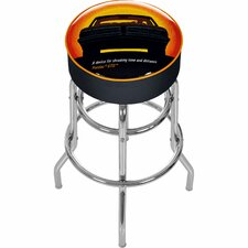 "<strong>Trademark Global</strong> Pontiac 31"" GTO Time and Distance Swivel Bar Stool with Cushion"