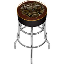 "<strong>Trademark Global</strong> Fende 31"" Sea of Sorrow Swivel Bar Stool with Cushion"