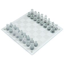 Games Deluxe Glass Chess Set