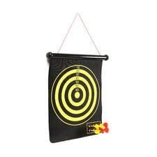Magnetic Roll-up Dart Board and Bullseye Game with Darts (Set of 2)