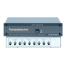 2 x 1 High resolution Audio / Video / Component Switcher