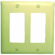 Double Gang Decora Wall Plate Cover in White