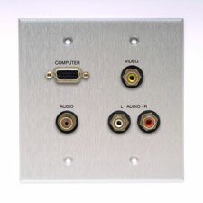 <strong>Comprehensive</strong> Double Gang Wall Plate (VGA, Stereo Mini, 3RCA- Passthru)