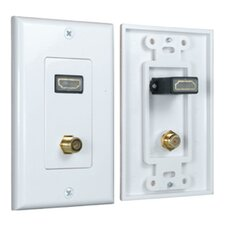 HDMI Wall Plate 2 Port 90 Degree
