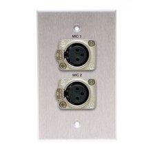 Single Gang Wall Plate (Latching x LR(2) Female)solder)