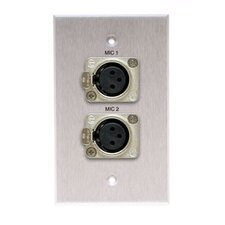 Single Gang Wall Plate in Anodized Black (Latching x LR(2) Female)