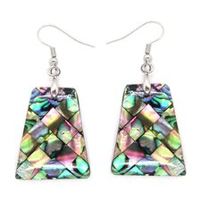Trapezoid Abalone Shell Dangle Earrings