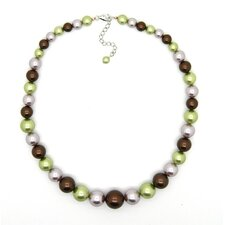 Sterling Silver Shell Pearl Journey Necklace