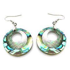 Fashion Abalone and Shell Dangle Fashion Earrings