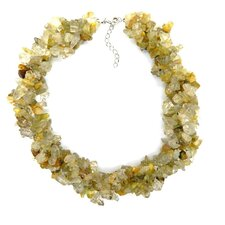 Chips Sterling Silver Rutile Necklace