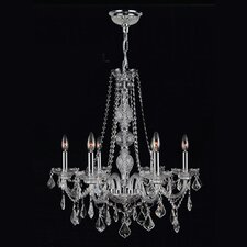 <strong>Worldwide Lighting</strong> Provence 6 Light  Crystal Chandelier