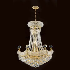 <strong>Worldwide Lighting</strong> Empire 12 Light Crystal Chandelier