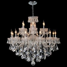 <strong>Worldwide Lighting</strong> Olde World 18 Light Crystal Chandelier