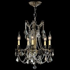 <strong>Worldwide Lighting</strong> Windsor 5 Light Crystal Chandelier