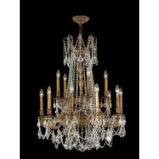 <strong>Worldwide Lighting</strong> Windsor 15 Light Crystal Chandelier