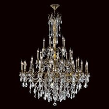 <strong>Worldwide Lighting</strong> Windsor 45 Light Crystal Chandelier