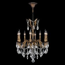 <strong>Worldwide Lighting</strong> Versailles 8 Light Crystal Chandelier