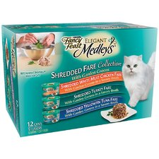 Elegant Medley Shredded Variety Cat Food (Case of 2)